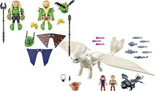 Playmobil Ruffnut and Tuffnut with Flight Suit and Light Fury with Baby Dragon and Children