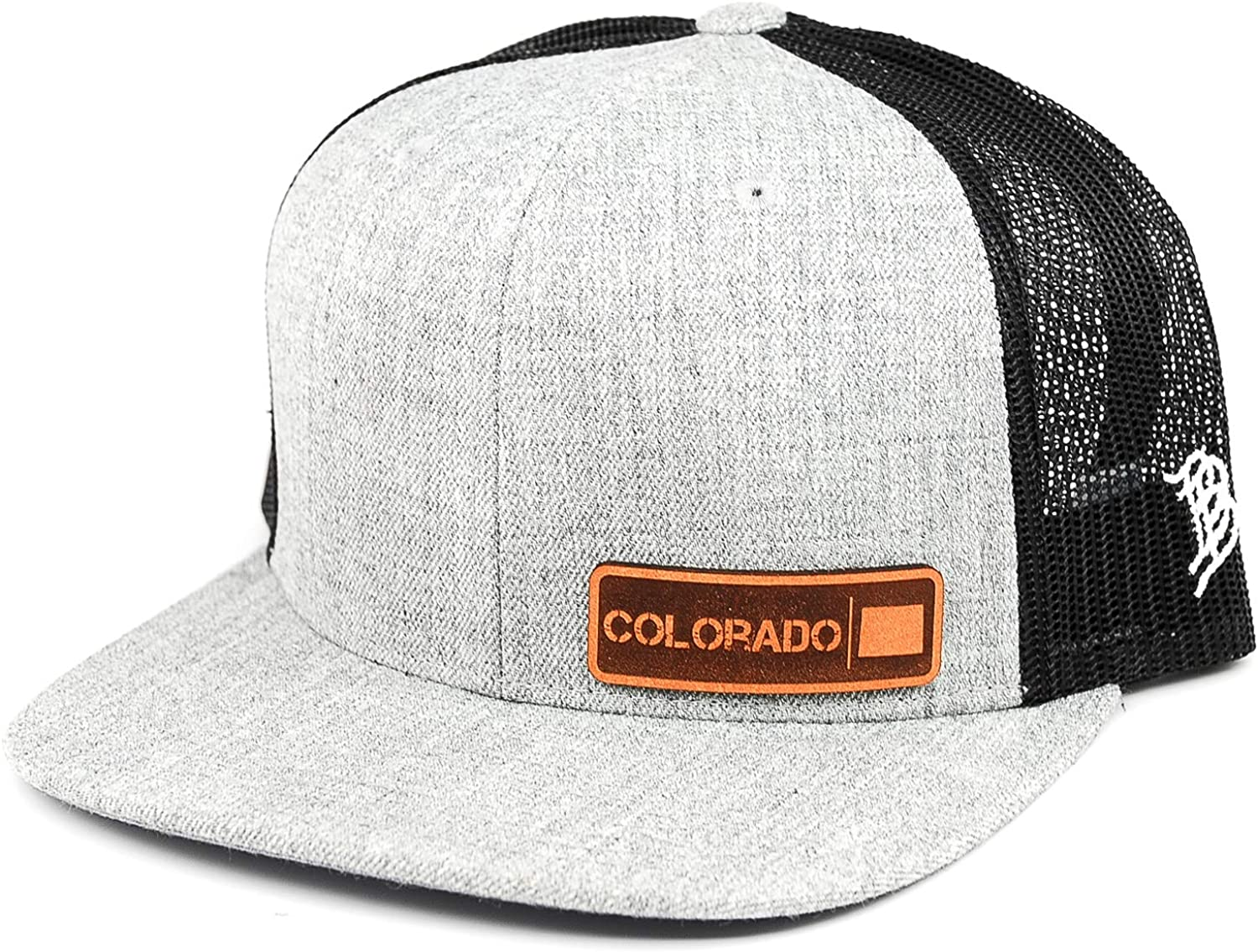 Branded Bills 'The Colorado Native' Leather Patch Hat Flat Trucker