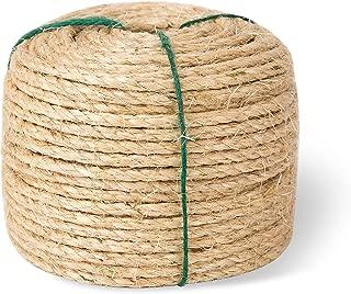 Yangbaga Scratching Post Sisal Rope for Cats, Sisal Rope Replacement, 1/4 inch Diameter, Natural Fiber Dye Free