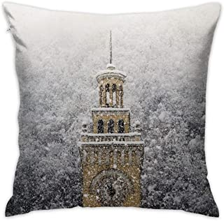 SARA NELL Velvet Throw Pillow Cases,London Big Ben in Winter,Pillow Covers Decorative 18x18 in Pillowcase Cushion Covers with Zipper
