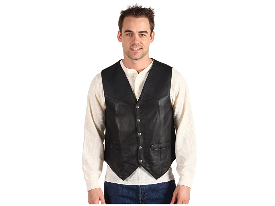 Scully Leather Vest (Black) Men