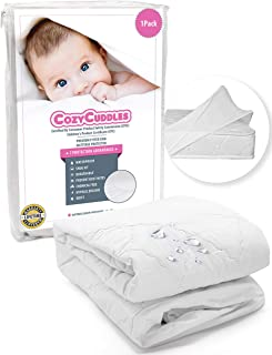 COZYCUDDLES Premium Waterproof Crib Protector Cover - Quilted Super Absorbent Standard Baby Crib Toddler Bedding (52 x 28) [1 Pack]
