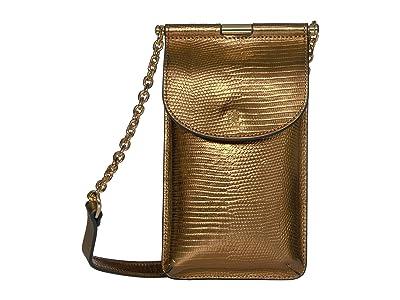 LAUREN Ralph Lauren Phone Bag Crossbody Mini (Gold) Cross Body Handbags