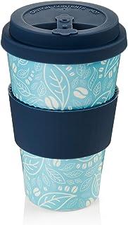 passe au lave-vaiss Tasse /écologique en bambou Tasse /à caf/é en bambou r/éutilisable avec couvercle et manchon en silicone Tasse /à caf/é en bambou avec couvercle herm/étique et trou de gorg/ée