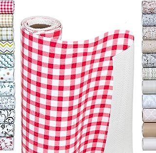 Smart Design Shelf Liner w/ Bonded Grip Adhesive - Washable Cutable Material - Non Slip & Peel Design - for Shelves, Drawe...