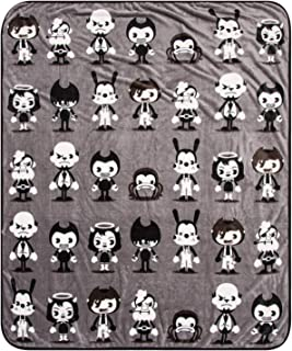 Bendy and the Ink Machine Throw - Black Chibi Throw Blanket (Black)