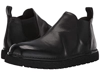 Marsell Gomme Lug Sole Chelsea Boot (Black Suede) Men