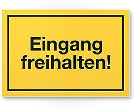 Kinekt3d Leitsysteme Folienschild T/ürschild /• Eingang /• PVC Hinweisschild /• 160 x 40 mm Silber /• selbstklebend /• Kratzfester Druck /• UV Best/ändig