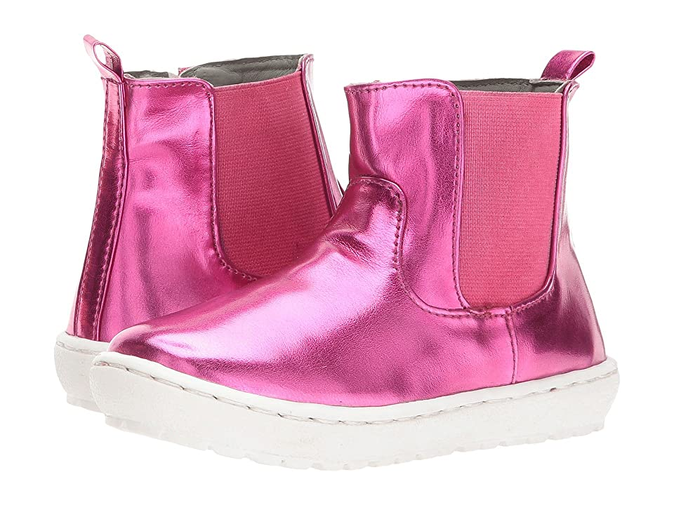 Pazitos Mini Chelsie Bootie PU (Toddler/Little Kid) (Fuchsia) Girls Shoes