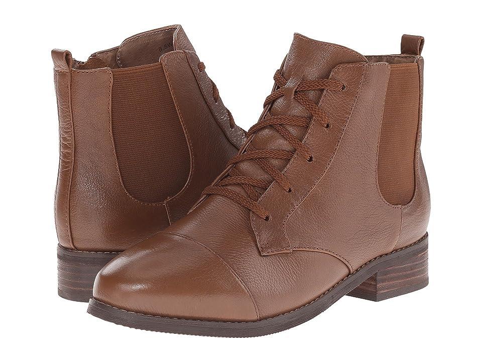 SoftWalk Miller (Cognac Soft Wax Tumbled Leather) Women
