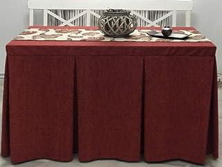 INUSUAL Falda o Ropa de Camilla Valeria en Chenilla 120x70x72 y a Medida (ROJA)