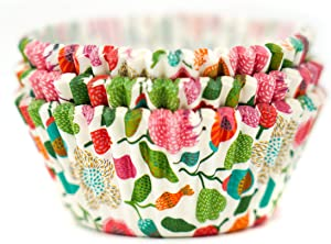 225 Paper Baking Cups   Standard Size, Oven and Food Safe   Great for Cupcakes, Muffins, Candies and More   Trendy Flowers