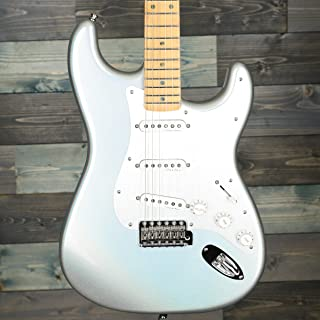 Fender H.E.R. Stratocaster Electric Guitar, Maple Fingerboard, Chrome Glow