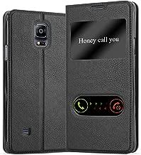 Cadorabo Custodia Libro per Samsung Galaxy Note 4 in Nero COMETA – con Funzione Stand e Chiusura Magnetica – Portafoglio Cover Case Wallet Book Etui Protezione