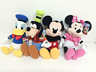 """Mickey Mouse, Minnie Mouse, Goofy and Donald Duck Plush 15"""""""