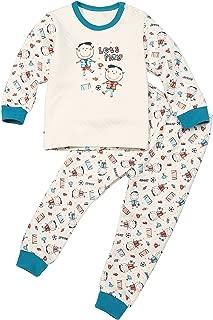 lishan Motorcycle Boys Pajamas Sets 2 Piece PJS 100/% Cotton Toddler Kids Sleepwear Size 2T-7T 7