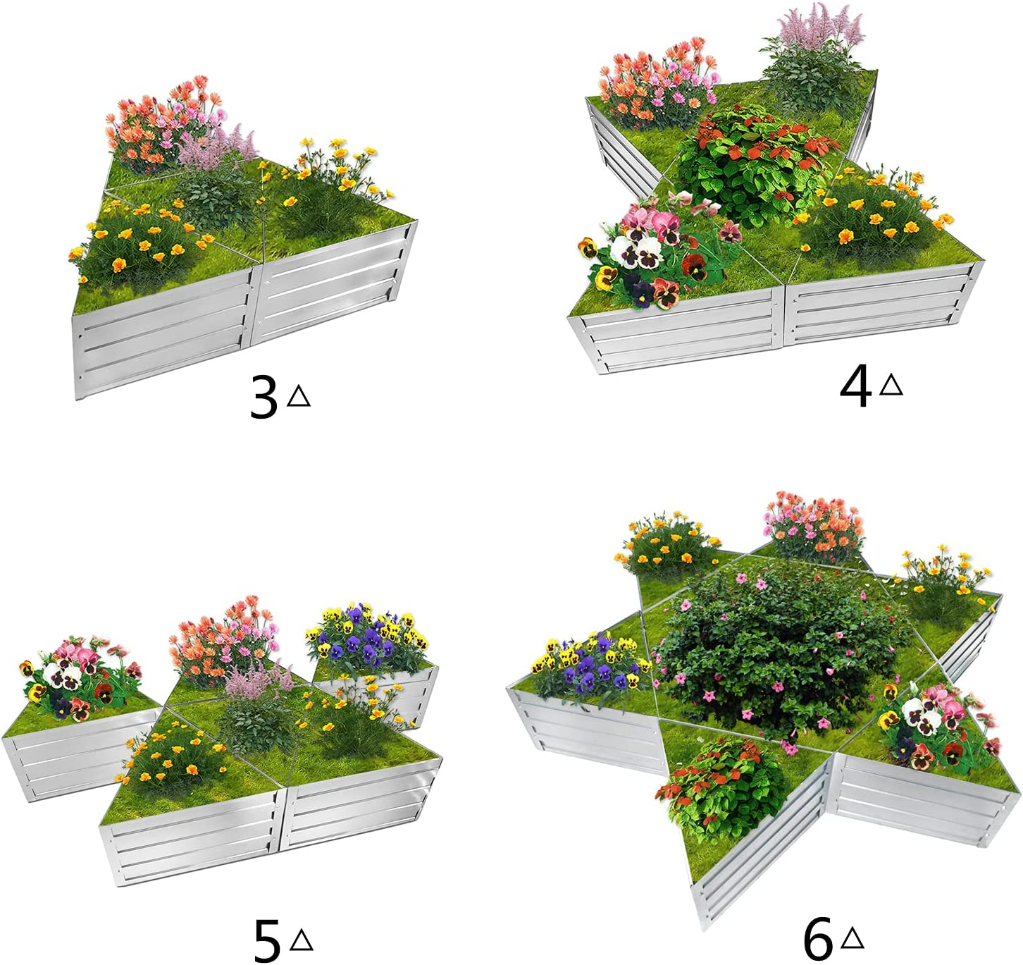 Ranking TOP5 Triangle Galvanized Raised Attention brand Garden Beds Unique Plan Outdoor Large