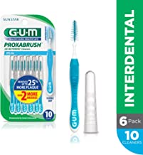 GUM Proxabrush Go-Betweens Interdental Brushes, Wide, 10 Count (Pack of 6)