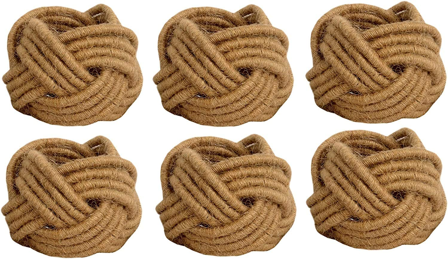 WYN_Set of 12 Classic Braided Jute Napkin Max 52% Today's only OFF Cream Rings Burlap 1
