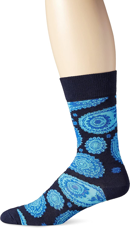Happy Socks mens Paisley Combed Cotton Crew Socks