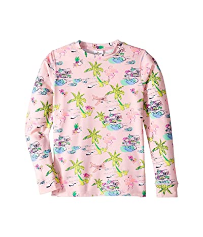 shade critters Tiki Rashguard (Little Kids/Big Kids) (Pink) Girl