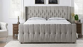 Best silver upholstered bed Reviews
