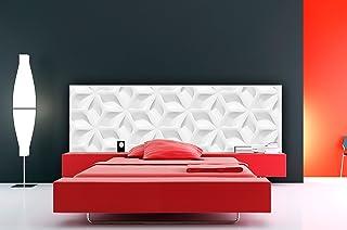 Cabecero cama Cartón ecologico Textura Abstracta Blanca Moderna 150x60cm | Disponible en Varias Medidas | Cabecero Ligero, Elegante, Resistente y Económico |