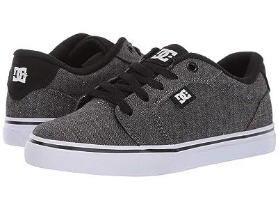DC Kids Anvil SE (Little Kid/Big Kid) (Black/Herringbone) Boys Shoes