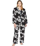 Plus Size Classic Notch Collar Pajama Set