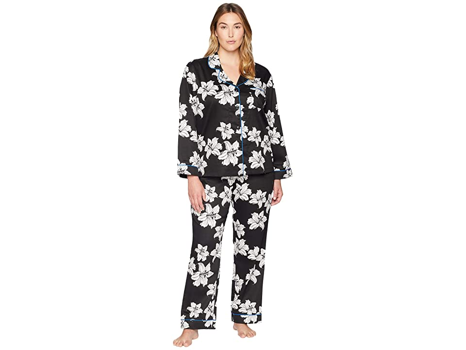 BedHead Plus Size Classic Notch Collar Pajama Set (Star Lily) Women