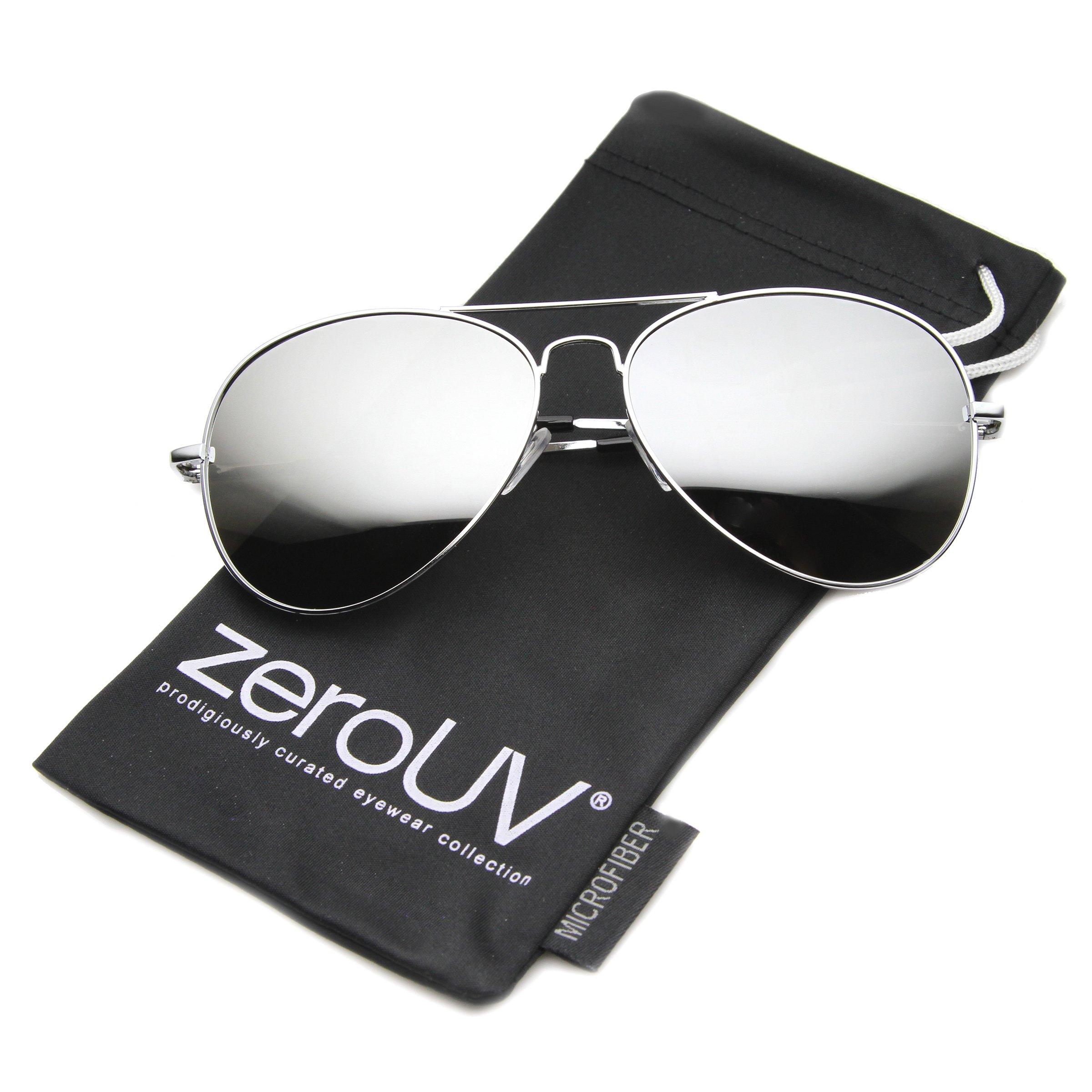 zeroUV Premium Mirrored Aviator Sunglasses