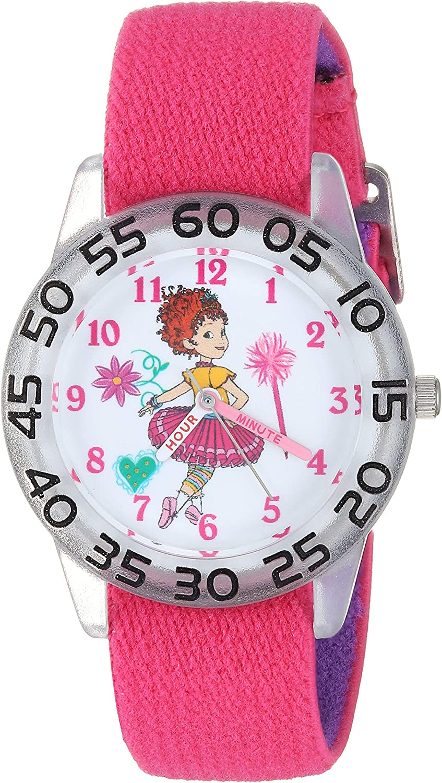 Disney Girls Fancy Nancy Analog-Quartz Strap Dedication Watch P Nylon Popular standard with