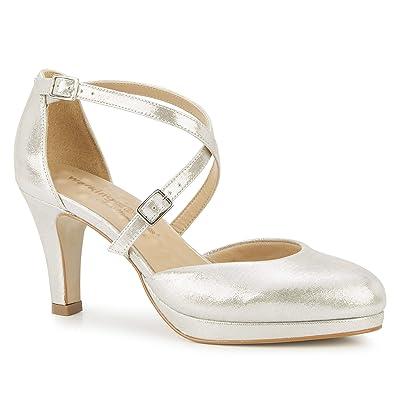 Walking Cradles Pammy (Silver Glitter Leather) Women