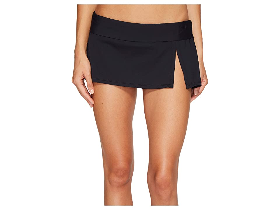 Bleu Rod Beattie Kore Skirted Hipster Bikini Bottom (Black) Women