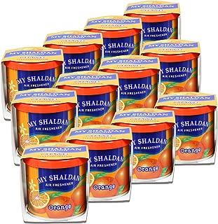 Pack of 12 My Shaldan Japanese Car Cup-Holder Natural Air Freshener Cans (Orange Scented)