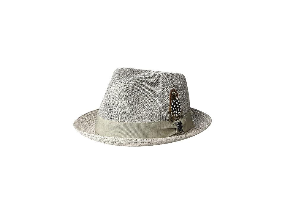 Stacy Adams Polyester Fedora (Grey) Fedora Hats