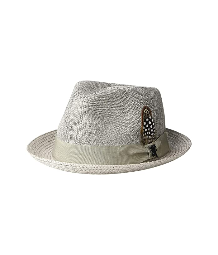 Stacy Adams Polyester Fedora (Grey) Fedora Hats