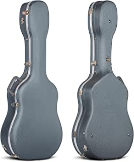 CAHAYA Hard Guitar Cases Diamond Pattern Acoustic Guitar ABS Case 41 Inch Navy Blue