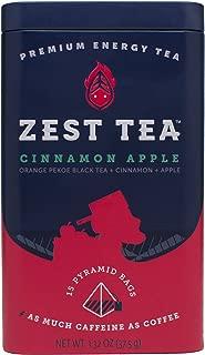 Zest Tea Cinnamon Apple High Caffeine Energy Black Tea 15 Tea Sachets