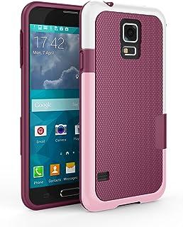 Galaxy S5 Case, Zectoo Hybrid Impact Slim Rugged Defender Protective Bumper Cute Women Girls Flexible Enhanced Non-Slip Gr...