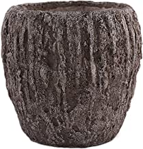 Little Green House Cement Vase, Brown