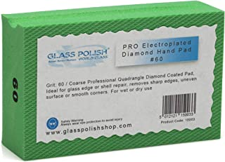 GP15003 Diamond Hand Sanding Pad for Sanding, Grinding, Polishing and Sharp Edges/for Glass, Stone, Marble, Concrete/A+ Class/GRIT 60 - Coarse