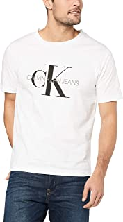 Calvin Klein Jeans Men's Monogram Embroidery Regular Fit T-Shirt