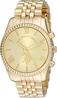 U.S. Polo Assn. Women's Quartz Watch, Analog Display and Gold Plated Strap USC40058