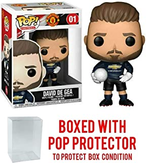POP! Sports Soccer Manchester United's, David De GEA #1 Action Figure (Bundled with Pop Box Protector to Protect Display Box)