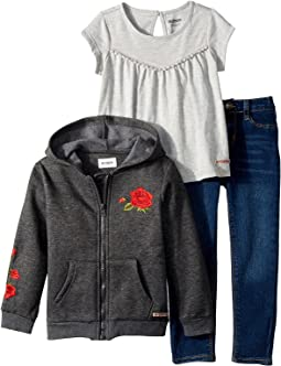 Hudson Kids - Three-Piece Set w/ Jersey Top, Fleece Jacket, and Skinny Denim Pants (Toddler)