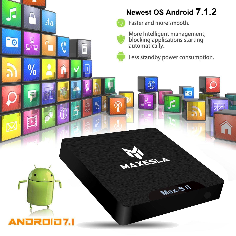Smart TV BOX Android 7.1 - Maxesla MAX-S II Mini TV Box de 2GB RAM ...