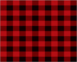 1/4 Sheet - Red Plaid Birthday - Edible Cake/Cupcake Party Topper!!!