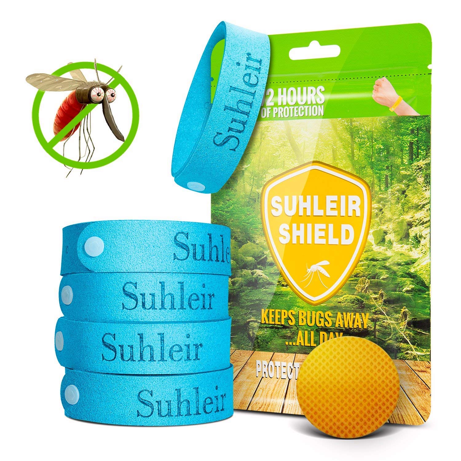 12 pieces Mosquito Repellent Bands Against Insects 100/% Natural Plant Extract for Children and Adults Anti-mosquito Bracelets VEGKEY Mosquito Repellent Bracelet