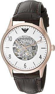 Emporio Armani Mens Quartz Watch, Analog Display and Leather Strap AR1920